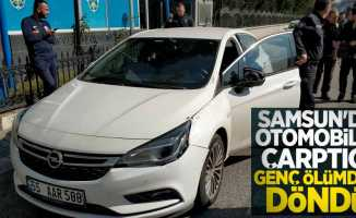 Samsun'da otomobilin çarptığı genç ölümden döndü