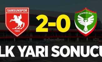 Samsunspor 2-0 Amed (İlk yarı sonucu)