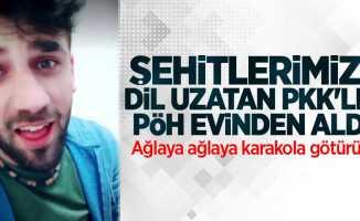 Şehitlerimize dil uzatan PKK'lıya baskın düzenlendi! Ağlaya ağlaya karakola götürüldü