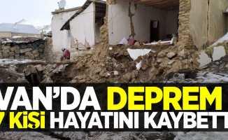 Van'da deprem! 7 kişi hayatını kaybetti