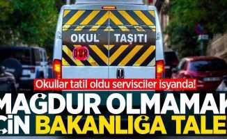 Okullar tatil oldu servisciler isyanda! Mağdur olmamak için bakanlığa talep