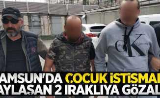 Samsun'da çocuk istismarı paylaşan 2 Iraklıya gözaltı