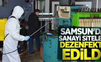 Samsun'da sanayi siteleri dezenfekte edildi