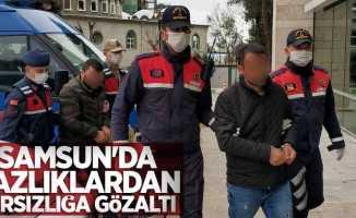 Samsun'da yazlıklardan hırsızlığa gözaltı