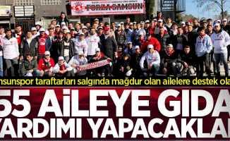 Samsunspor taraftarları salgında mağdur olan ailelere destek olacak
