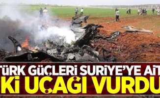 Türk güçleri Suriye'ye ait iki uçağı vurdu