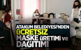 Atakum'dan ücretsiz maske üretimi ve dağıtımı