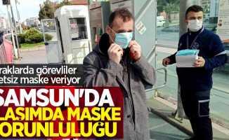 Samsun'da ulaşımda maske zorunluluğu