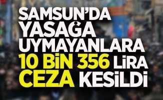 Samsun'da yasağa uymayanlara 10 bin 356 lira ceza kesildi