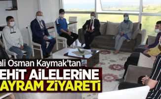 Vali Osman Kaymak'tan şehit ailelerine bayram ziyareti