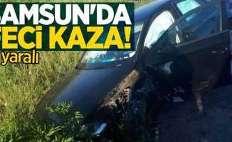 Samsun'da feci kaza! 2 yaralı