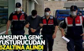 Samsun'da genç uyuşturucudan gözaltına alındı