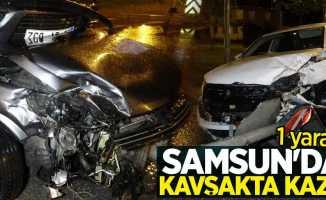 Samsun'da kavşakta kaza: 1 yaralı