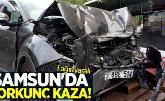 Samsun'da korkunç kaza! 1 ağır yaralı