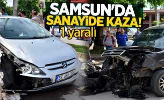 Samsun'da sanayide 2 araç çarpıştı: 1 yaralı