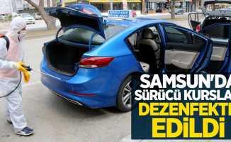 Samsun'da sürücü kursları dezenfekte edildi