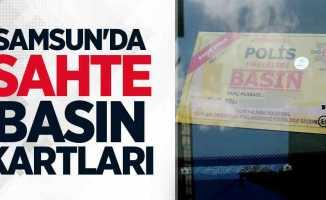 Samsun'da sahte basın kartları