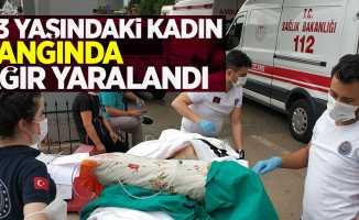 93 yaşındaki kadın yangında ağır yaralandı