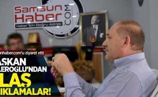 Başkan Güleroğlu'ndan Samsunhaber.com'a ziyaret! Flaş açıklamalar