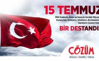 Çözüm Okulları Samsunspor kutlama mesajı