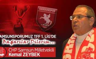 Kemal Zeybek Samsunspor kutlama mesajı