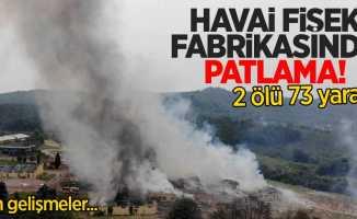 Sakarya'da havai fişek fabrikasında patlama! İşte son detaylar...