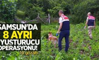 Samsun'da 8 ayrı uyuşturucu operasyonu: 10 gözaltı