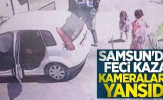 Samsun'da feci kaza kameralara yansıdı