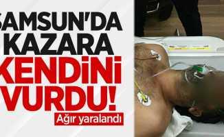 Samsun'da havaya ateş ederken kazara kendini vurdu! Ağır yaralandı