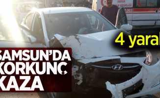Samsun'da korkunç kaza! 4yaralı
