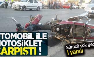Samsun'da otomobille motosiklet çarpıştı! 1 yaralı