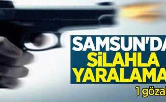 Samsun'da silahla yaralama: 1 gözaltı