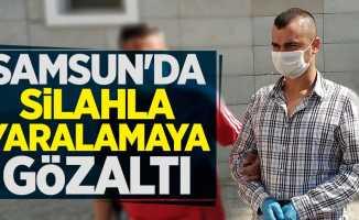 Samsun'da silahla yaralamaya gözaltı