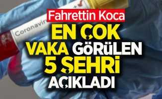 Fahrettin Koca en çok vaka görülen 5 şehri açıkladı