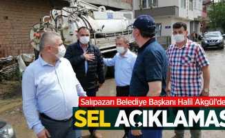 Salıpazarı Belediye Başkanı Halil Akgül'den sel açıklaması