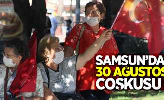 Samsun'da 30 Ağustos coşkusu