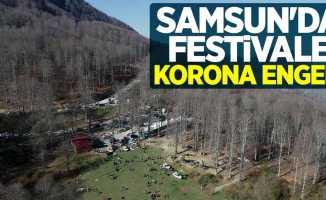 Samsun'da festivale korona engeli