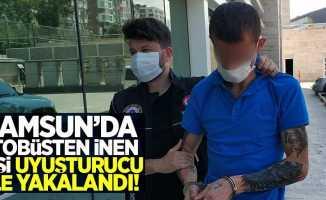 Samsun'da otobüsten inen yolcu uyuşturucu ile yakalandı
