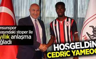 Samsunspor, 19 yaşındaki stoper ile 5 yıllık anlaşma sağladı! Hoş geldin Cedric Yameogo