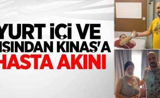 Yurt içi ve dışından Kınaş'a hasta akını