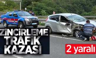 Zincirleme trafik kazası! 2 yaralı