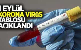1 Eylül korona virüs tablosu açıklandı