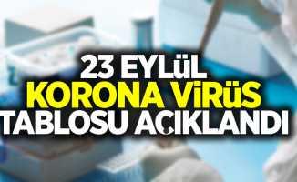 23 Eylül korona virüs tablosu açıklandı