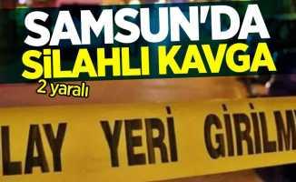 Samsun'da silahlı kavga! 2 yaralı