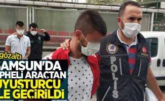 Samsun'da şüpheli araçtan uyuşturucu ele geçirilidi: 4 gözaltı