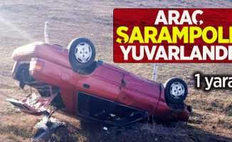 Araç şarampole yuvarlandı! 1 yaralı