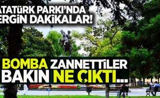 Atatürk parkında bomba paniği!