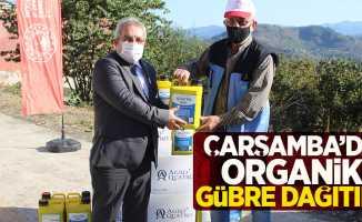 Çarşamba'da organik gübre dağıtımı