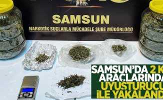 Samsun'da 2 kişi uyuşturucudan adliyede