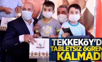 Tekkeköy'de tabletsiz öğrenci kalmadı